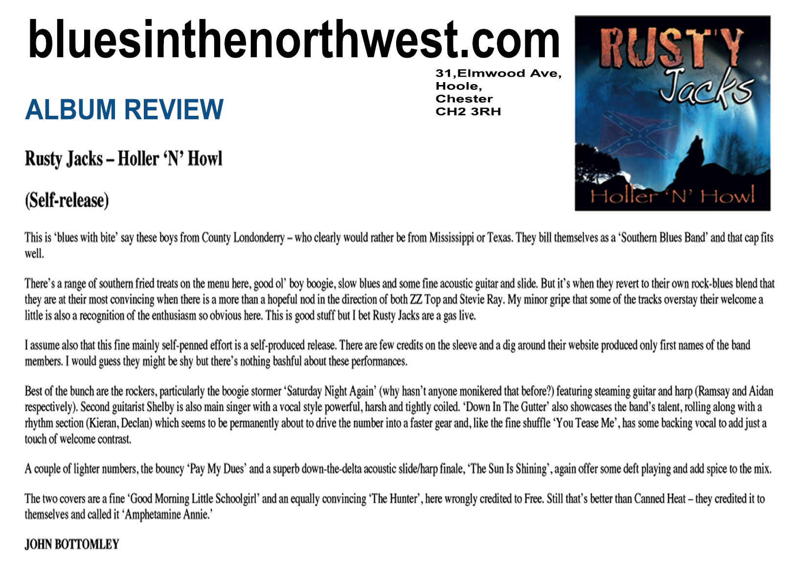 BLUES IN THE NORTHWEST -ALBUM REVIEW